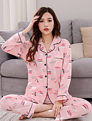 cheap -Women's Pajamas Medium Cotton Roman Knit Blushing Pink