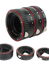 Plastic electronic AF Macro extension tube Auto Focus AF Macro lens Extension Tube Ring with Covers for Canon EF EF-S Lens DSLR Camera