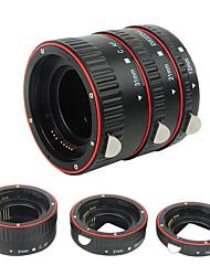 plástico eletrônico af macro extensão tubo auto foco af lente macro extensão tubo anel com capas para canon ef ef lente lente dslr camera