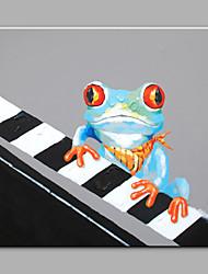 Pintada a mano Animal Modern Un Panel Lienzos Pintura al óleo pintada a colgar For Decoración hogareña