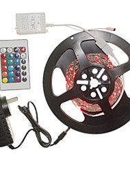 abordables -SENCART 5 m Sets de Luces 300 LED RGB Control remoto / Cortable / Regulable 100-240V 1 juego / Conectable / Auto-Adhesivas / 2835 SMD