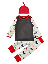 Baby Boy's Indoor Outdoor Casual/Daily Animal Print Clothing Set,Animal Print Spring/Fall Winter