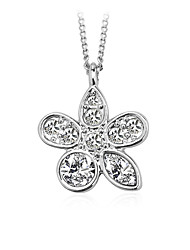 cheap -Women's Crystal / Cubic Zirconia Choker Necklace / Pendant Necklace  -  Zircon, Silver Plated Flower Personalized, Fashion Silver Necklace For Wedding, Evening Party