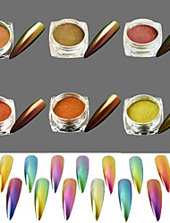 cheap -6pcs/set Glitter Powder Powder Elegant & Luxurious Mirror Effect Sparkle & Shine Nail Art Design