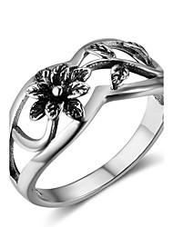 preiswerte -Damen Knöchel-Ring Modisch Sterling Silber Blume Schmuck Festival