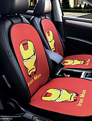 cheap -Iron Man Cartoon Hero Car Seat Cushion Seat Cover Seat Four Seasons General Surrounded By A Five Seat Headrest With 2 Wheel Sets