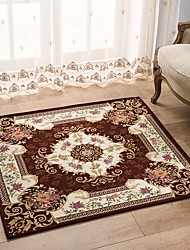 European Style Square Anti-skid Jacquard Carpet for Living Room/Dining Bedroom Mat Rug
