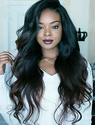cheap -Human Hair 360 Frontal Wig Brazilian Hair Body Wave / Natural Wave With Baby Hair 130% Density For Black Women Women's Short / Medium Length / Long Human Hair Lace Wig
