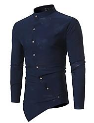 billige -Stående krave Tynd Herre - Blomstret Skjorte