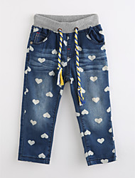 Girls' Print Pants-Cotton Fall