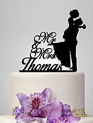 Decorações de Bolo Tema Clássico Romance Casamento Casal Clássico Casamento Com Bolsa Poly