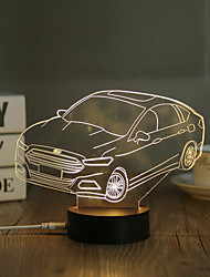 cheap -1 Set, Popular Home Acrylic 3D Night Light LED Table Lamp USB Mood Lamp Gifts, Car