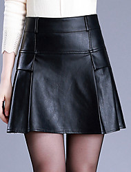 Women's Casual/Daily Above Knee Skirts,Simple A Line Solid Fall Winter
