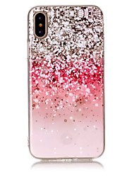 For iPhone X iPhone 8 Case Cover Ultra-thin Pattern Back Cover Case Glitter Shine Soft TPU for Apple iPhone X iPhone 8 Plus iPhone 8