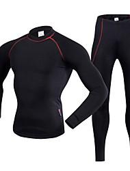 economico -Realtoo Maglia con pantaloni da ciclismo Unisex Manica lunga Bicicletta Intimo/Maglia Intima Traspirabilità Elastico Poliestere LYCRA®