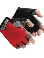 Недорогие -Спортивные перчатки Перчатки для велосипедистов Прочный Впитывает пот и влагу Защитный Нескользящий Без пальцев Ткань Нейлон Велосипедный
