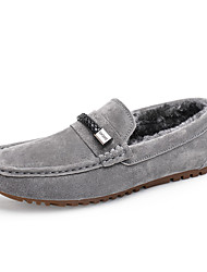 cheap -Men's Shoes Suede Fall Winter Fluff Lining Comfort Loafers & Slip-Ons Studded For Casual Party & Evening Blue Gray Black
