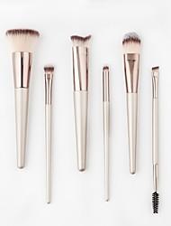 cheap -6PCS Contour Brush Makeup Brush Set Blush Brush Eyeshadow Brush Lip Brush Brow Brush Concealer Brush Powder Brush Foundation Brush
