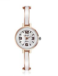 cheap -Women's Simulated Diamond Watch Dress Watch Fashion Watch Japanese Quartz Hot Sale Alloy Band Charm Casual Elegant Black White Pink