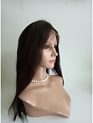 cheap -Women Synthetic Wig Lace Front Long Straight Dark Brown Black Medium Brown Natural Wigs Costume Wig