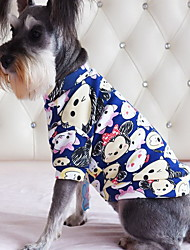 cheap -Dog Shirt / T-Shirt Dog Clothes Casual/Daily Cartoon Red Blue Pink Navy Light Blue Costume For Pets