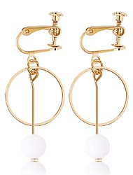 Women's Hoop Earrings Fashion Elegant Alloy Jewelry For Wedding Office & Career