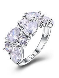 cheap -Women's Band Rings Cubic Zirconia Fashion Bling Bling Zircon Round Jewelry Wedding Party