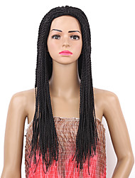 cheap -Women Synthetic Wig Capless Long Straight Black Braided Wig Natural Wigs Costume Wig