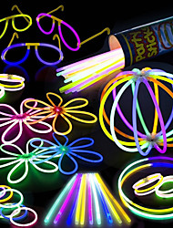 cheap -100 Glow Stick Party Pack - 100 Mixed Color 8 Premium Glowsticks with Connectors to Make Bracelets Glasses Flowers Balls and More - Bulk Wholesale