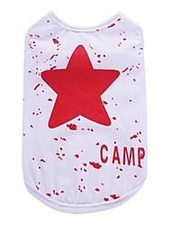Perro Camiseta Chaleco Ropa para Perro Fiesta Cumpleaños Vacaciones Casual/Diario Deportes Moda Estrellas Negro Rojo Azul Disfraz Para