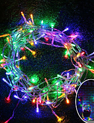 cheap -BRELONG 10M 100 LED Christmas Halloween Decorative Light Festival Decorative Light - RGB / Warm White / White (110V / 220V) Without Battery