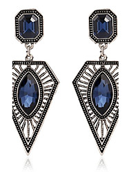 Women's Drop Earrings Imitation Sapphire Fashion Personalized Zircon Alloy Geometric Jewelry For Party Stage