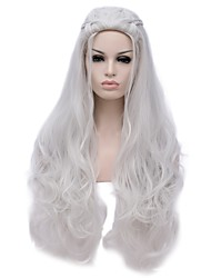 cheap -Women Synthetic Wig Capless Long Deep Wave Silver Halloween Wig Costume Wig