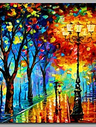 The Path in The Park 100% Hand Painted Contemporary Oil Paintings Modern Artwork Wall Art for Room Decoration