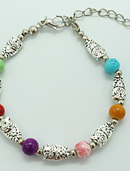 Women's Charm Bracelet Turquoise Handmade Bohemian Turquoise Alloy Owl Jewelry For Gift Casual