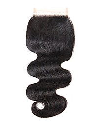 cheap -Classic Body Wave 4x4 Closure Swiss Lace Remy Free Part Smart High Quality Daily