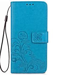 Недорогие -Кейс для Назначение Motorola Кошелек / Бумажник для карт / со стендом Чехол Однотонный Твердый Кожа PU для Мото G5 Plus / Moto G5