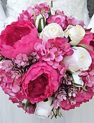 economico -Bouquet sposa Bouquet Matrimonio Poliestere 25 cm ca.