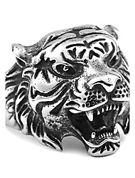 cheap -Men's Ring - Stainless Steel Animal Vintage, Fashion 7 / 8 / 9 Gold / Black / Silver For Daily / Casual
