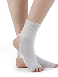 cheap -5 Pairs Women's Socks Solid Sports Cotton EU36-EU42