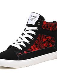 baratos -Homens sapatos Malha Respirável / Courino Primavera / Outono Conforto Tênis Branco / Preto / Preto / Vermelho / Black / azul