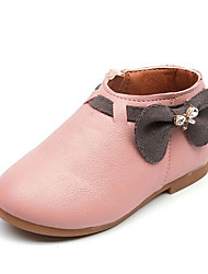 Girls' Shoes Leatherette Spring Fall Comfort Boots For Casual Blushing Pink Gray Beige
