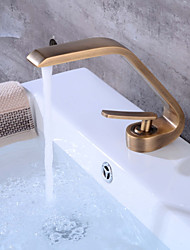 Centerset Clawfoot Single Handle One Hole Antique Copper , Bathroom Sink Faucet