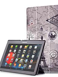 abordables -Funda Para Lenovo Funda de Cuerpo Entero / Casos Tablet Dura Cuero de PU para Lenovo Tab3 10