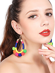 cheap -Women's Tassel Drop Earrings Hoop Earrings - Tassel Sexy Ball For Christmas Party