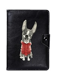 caja universal de la cubierta del soporte de la PU del perro para 7 pulgadas 8 pulgadas 9 pulgadas 10 pulgadas tableta PC
