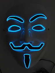 cheap -Flashing Cosplay LED Full Face Masks Classic V Masks for Halloween Party Dance Bar