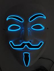 Flashing Cosplay LED Full Face Masks Classic V Masks for Halloween Party Dance Bar