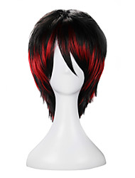 Lolita Wigs Punk Lolita Red Color Gradient Lolita Wig 35 CM Cosplay Wigs Color Block Wig For