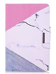 preiswerte -marmor muster kartenhalter mit stand flip magnetische pu ledertasche karte tasche mit muster für samsung galaxy tab ein p580 10,1 zoll